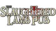 The Slaughtered Lamb Pub sells pub food across the street from Jekyll & Hyde's Haunted Asylum.